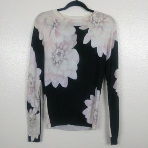 Ted Baker Floral Sweater. Size 3/US 8